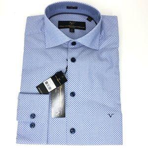 Versace V1969 Italia Mens Button Down Dress Shirt
